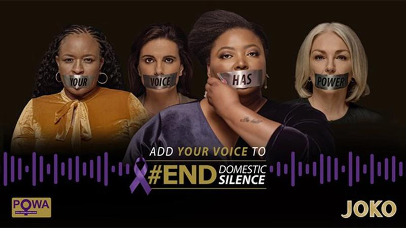 Joko campaign poster stating Add Your to Yoice to #End Domestic Silence
