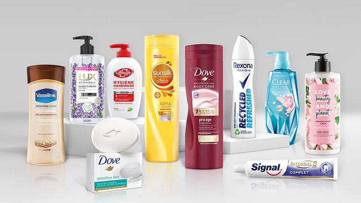 Packs of Unilever's Beauty and Personal Care brands