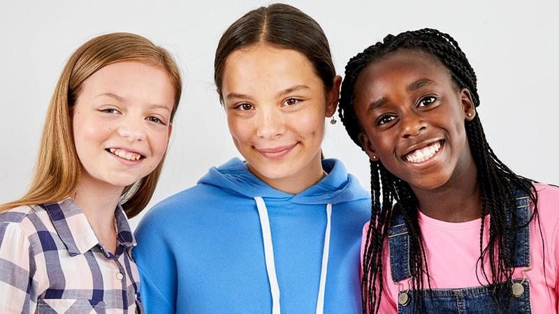Young girls for Dove Self-Esteem Project