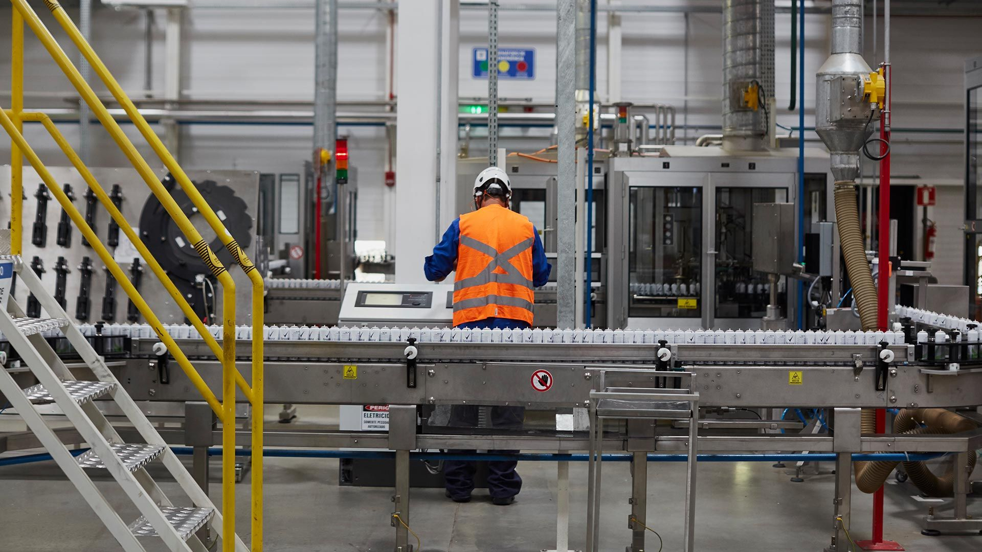 Working in Unilever factory