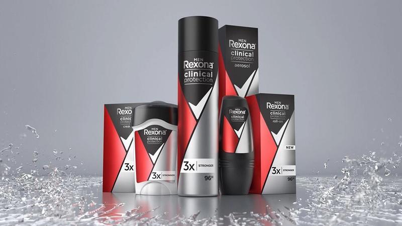 Rexona clinical range of products