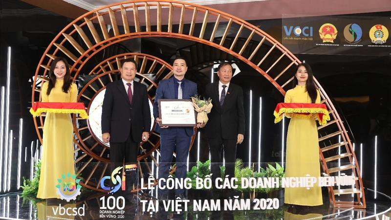 Năm 2020, Unilever Việt Nam nhận Top 10 Doanh nghiệp Phát triển Bền vững Việt Nam đánh dấu năm thứ 5 liên tiếp được vinh danh