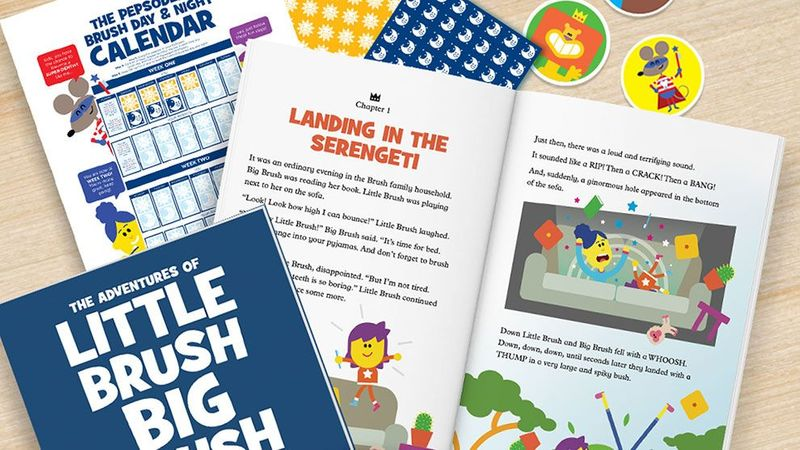 A range of support materials from Smile's Little Brush Big Brush campaign