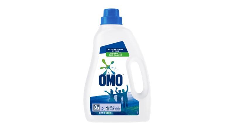 Bottle of Omo laundry detergent