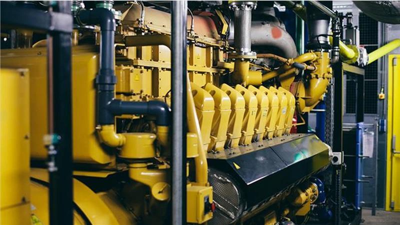 Gele warmtekrachtkoppeling