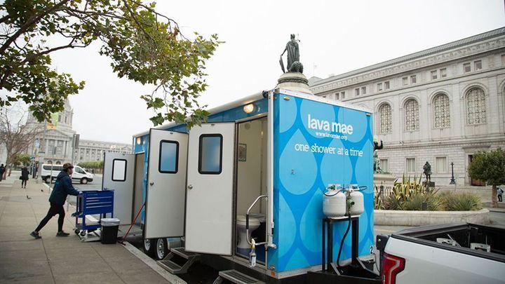 USA mobile shower