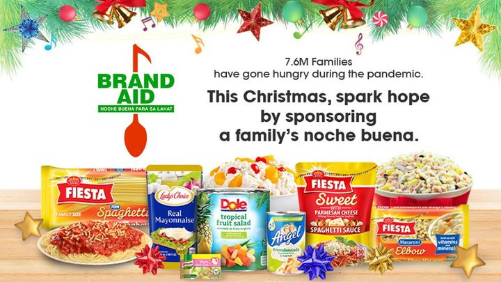 Brand Aid: Noche Buena Para sa Lahat kit containing products used to make Filipino Noche Buena dishes.