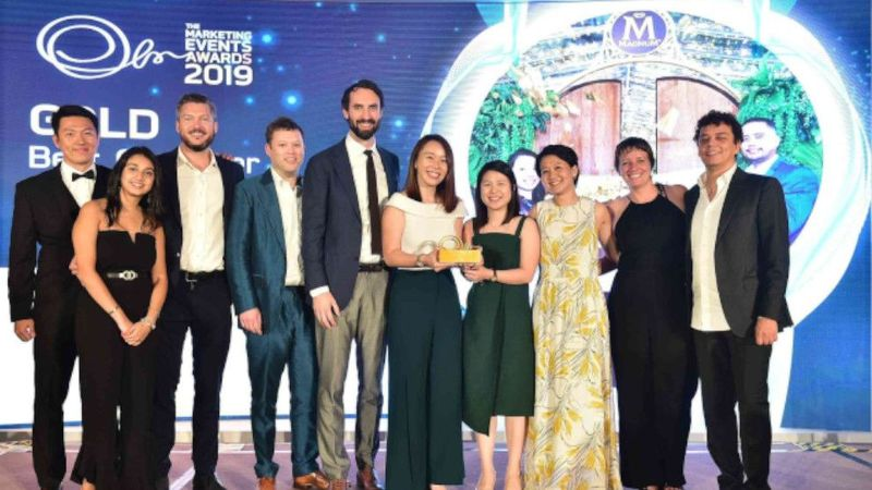 Unilever bags two golds at marketing events awards group photo