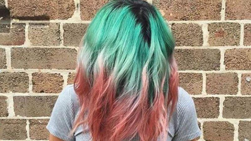 Watermelon inspired hair colour