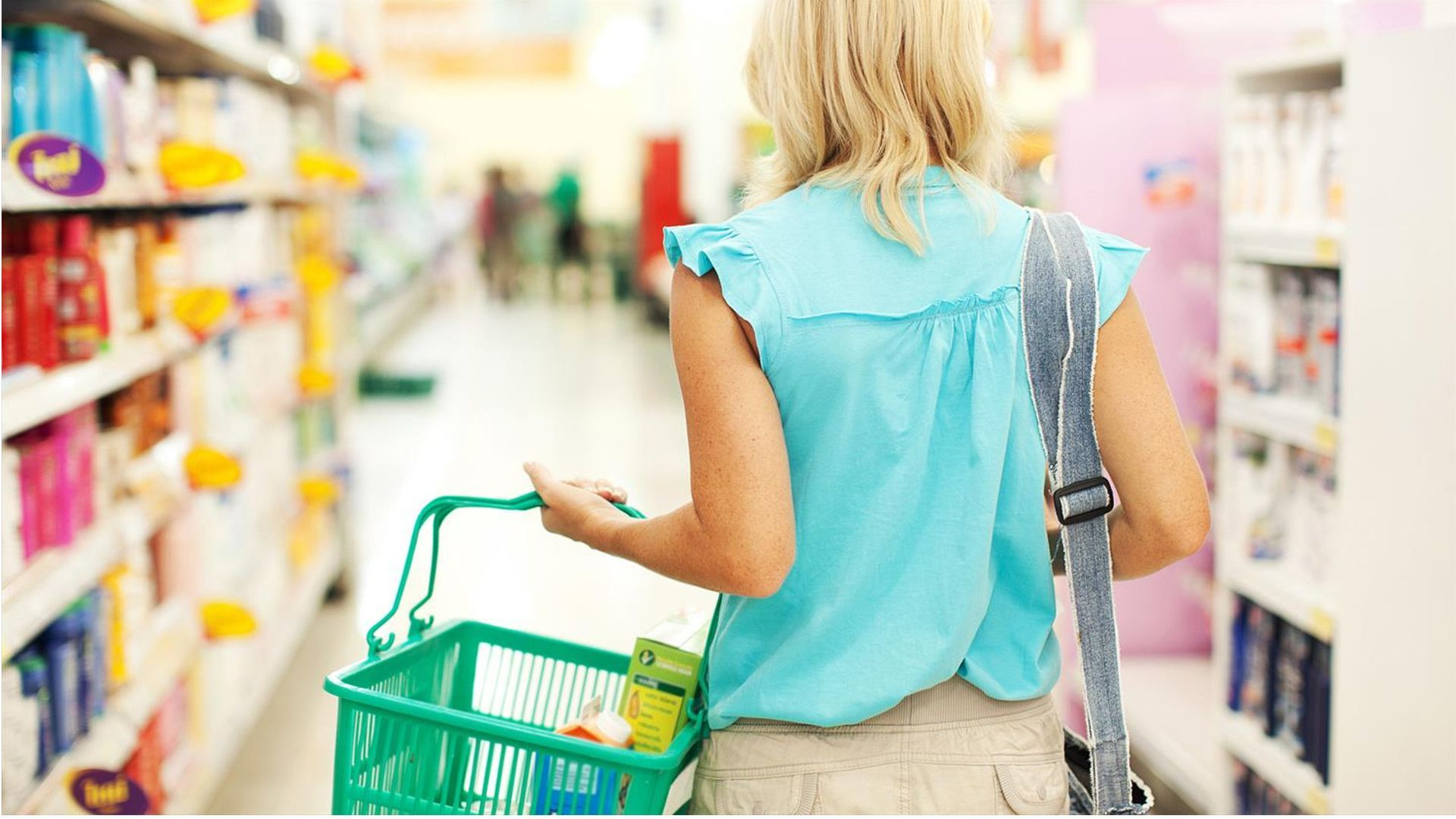 Woman with a shopping basket