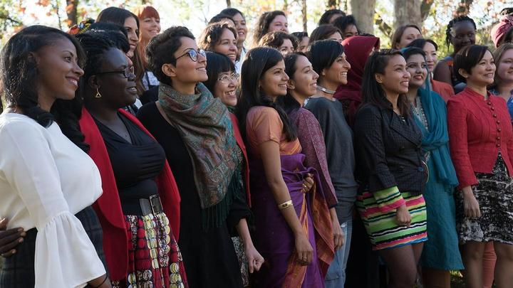 A group of diverse women