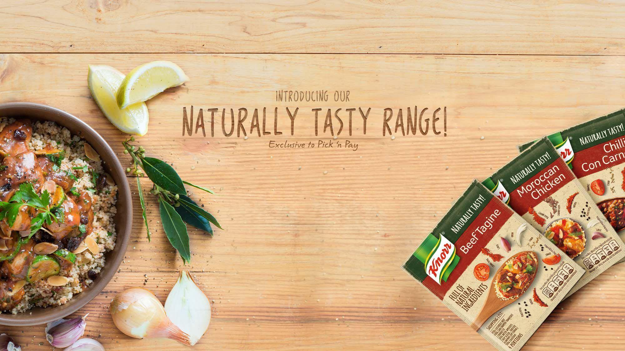 Knorr Naturally Tasty Range