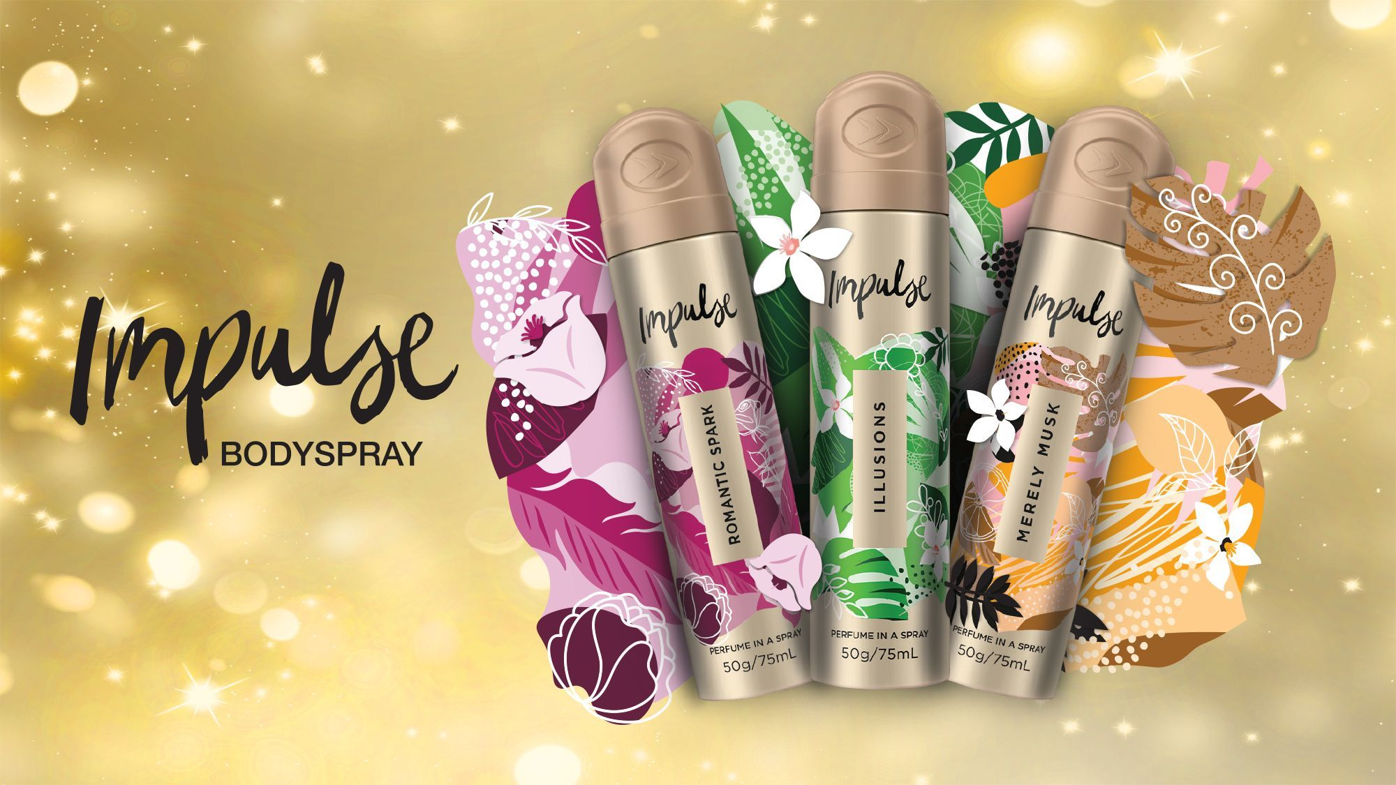 Impulse body spray range