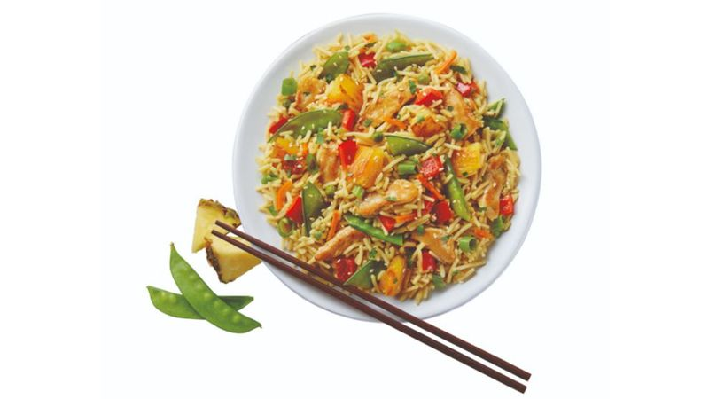 Pineapple & Chicken Fried Rice Recipe made with Knorr Rice Sides