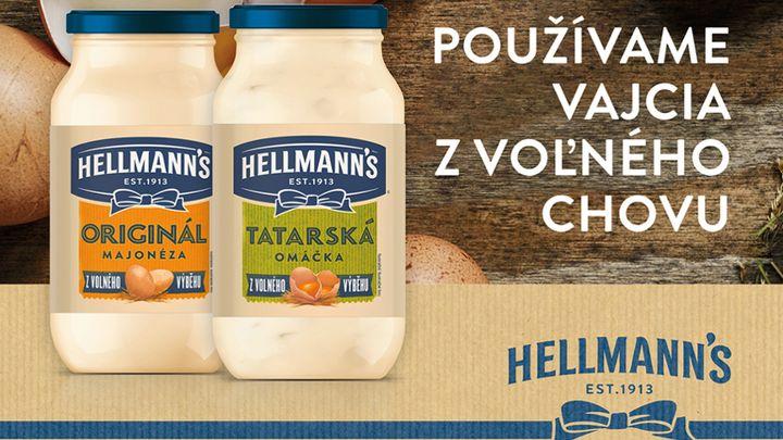 Hellmann's bude od tohto roku používať výhradne vajcia z voľného chovu