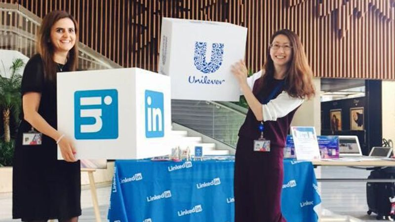 unilever and linked in