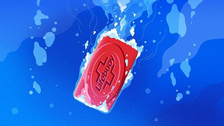 Lifebuoy Soap under water