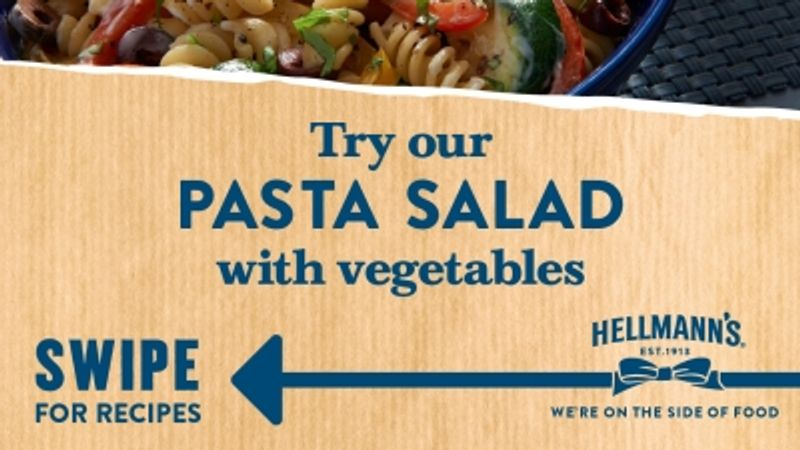 Hellmann's stay inspired with pasta example