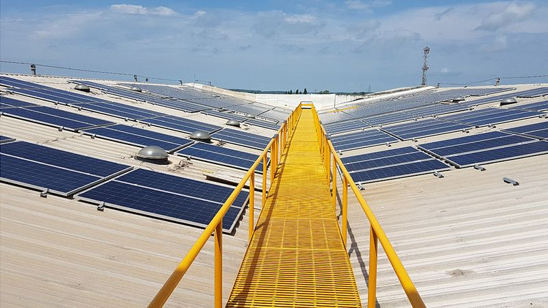 Solar panels. Unilever has worked with partners around the world to generate renewable electricity at its own sites, with solar power in use at Unilever facilities in 18 countries.