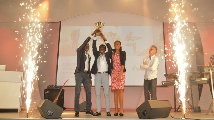 The winning team from Nigeria in the Africa Idea Trophy 2016 competition