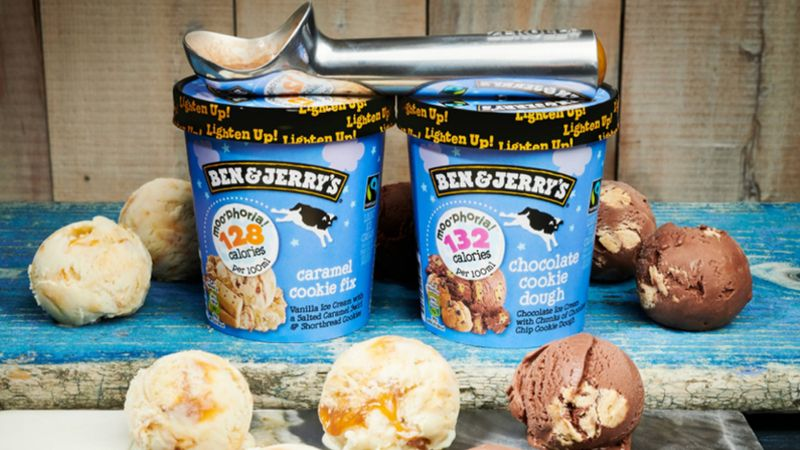 Image of Unilever's Moophoria Ben and Jerry's ice-cream which is lower calorie