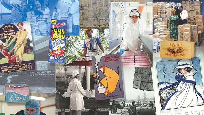Collage of Unilever photos throughout history