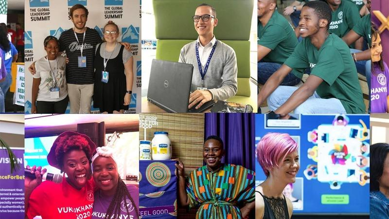 Collage of photos of young South African job seekers taking part in the LevelUp upskilling programme