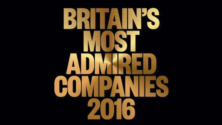 Britain's Most Admired Companies 2016