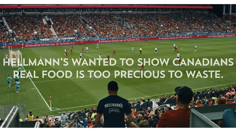 Hellmann's wanted to show Canadians real food is too good to be wasted