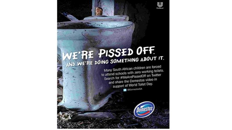 Domestos Pissed Off Posters