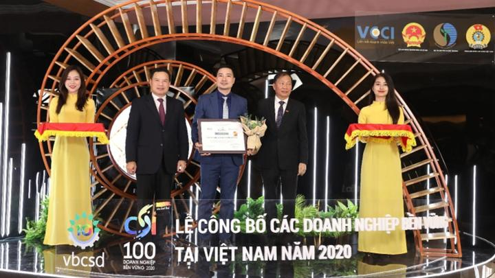 Unilever Viet Nam nhan giai Top 10 Doanh nghiep phat trien ben vung Viet Nam nam thu 5 lien tiep