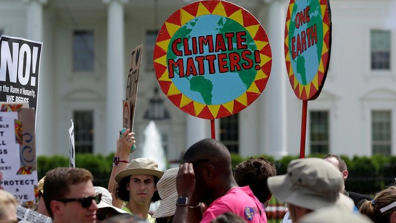 Climate demonstration outside the White House