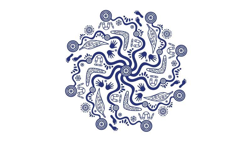 Indigenous artwork deisgned by Dixon Patten from Bayila.