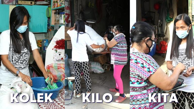 Woman collects and brings her flexible plastic waste to nearby Walastik Collection Hub.