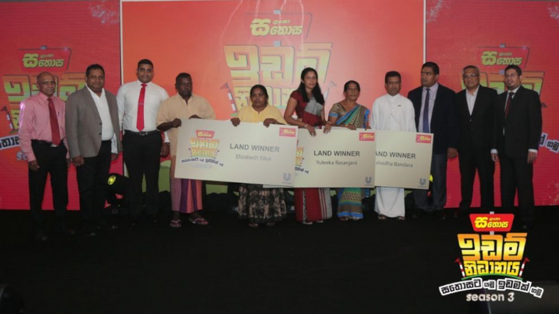 Press Conference photo of Unilever and Sathosa recognise the winners
