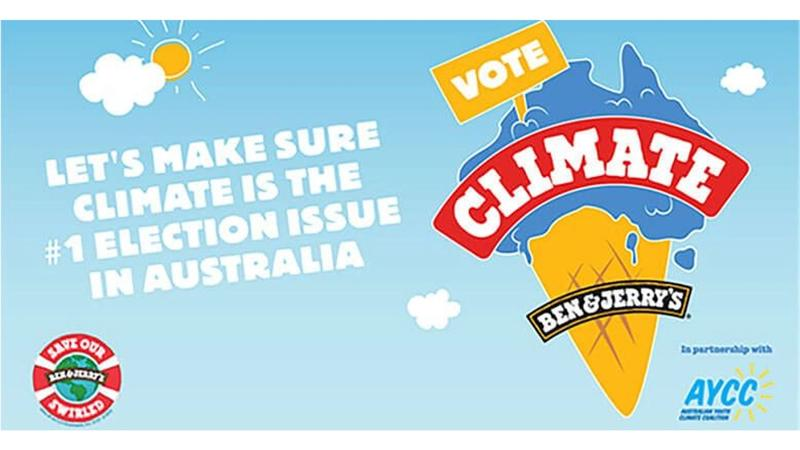 Asset from Ben & Jerry's 2018 climate campaign #VoteClimate