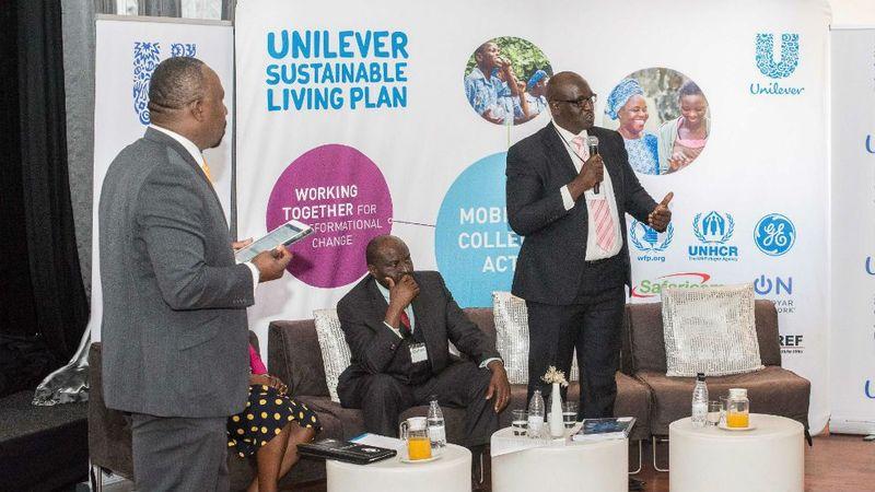 USLP Mobilising Collective Action panelists - UL Zimbabwe MD Hilary Muzondiwa addressing delegates