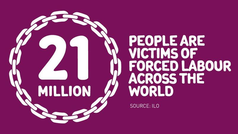 21 million people are victims of forced labour across the world