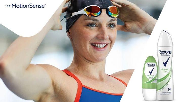 Hosszú Katinka, olimpiai bajnok a Rexona nagykövete.