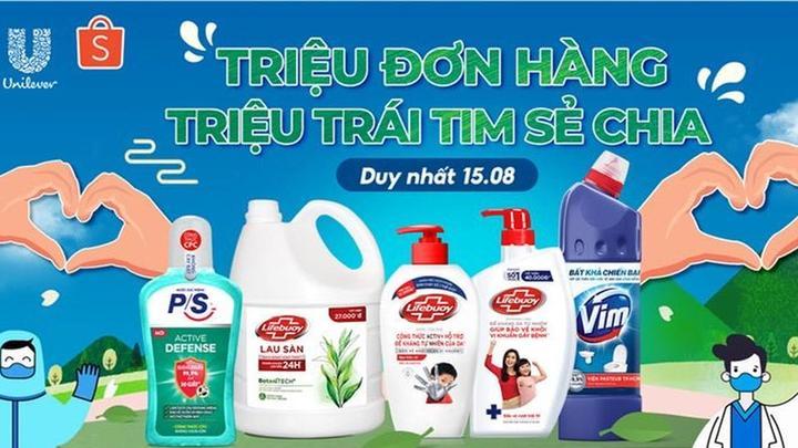 Chuong trinh Trieu don hang Trieu trai tim se chi tu Unilever va Shopee