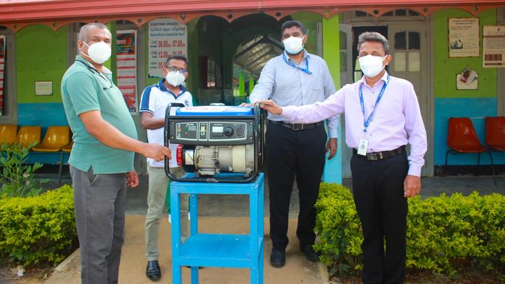 Unilever Ceytea donation of a generator to the Divisional Hospital in Agarapathana