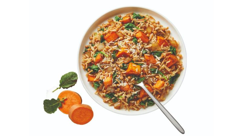Harvest Sweet Potato & Lentils Recipe made with Knorr Rice Sides