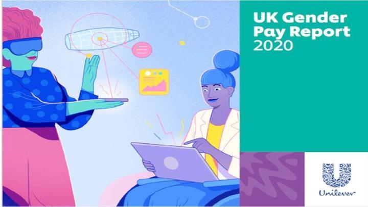 UK gender pay report illustration