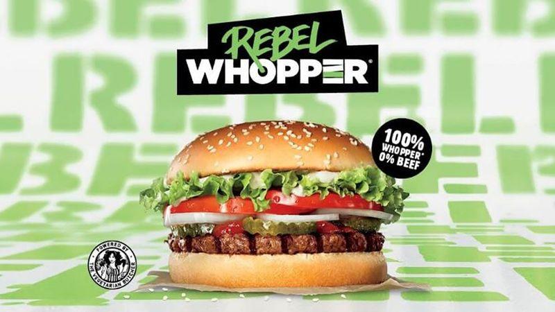 vegan plant based news BK rebel whopper