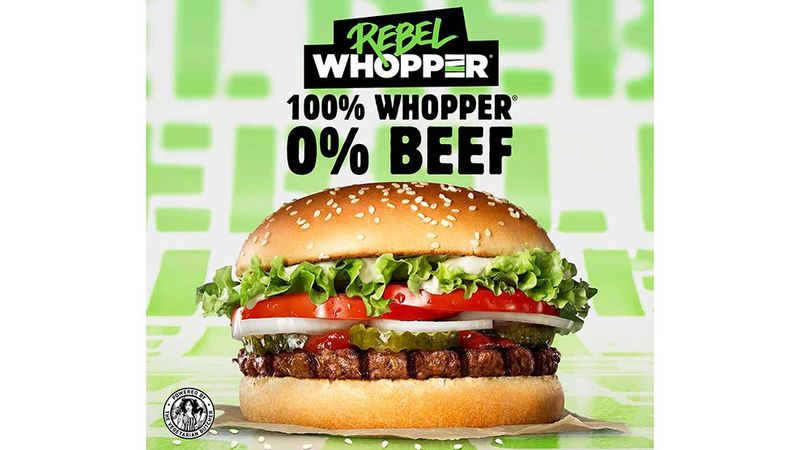 Vegetarian whopper burger