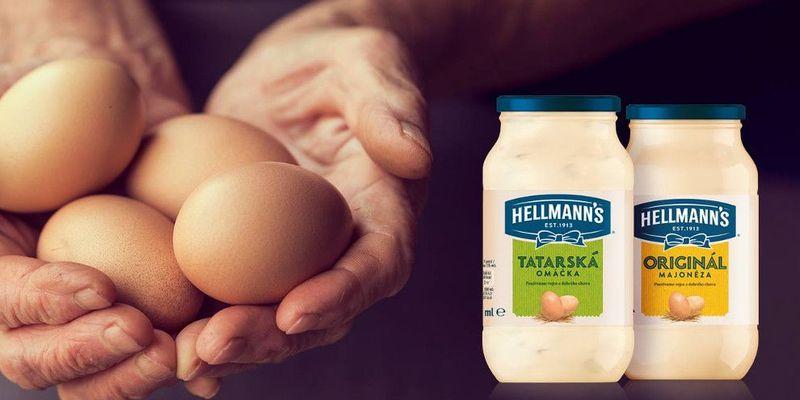 Hellmann's používá 100 % vajec z volného chovu