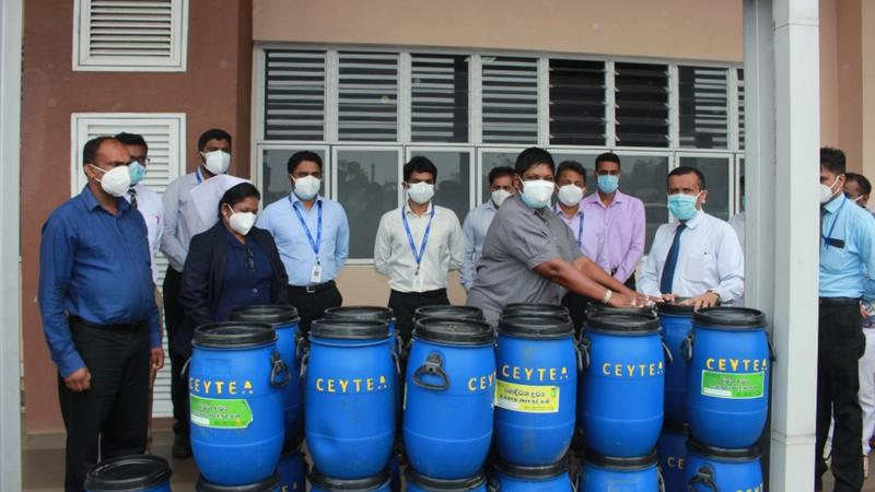 Unilever Ceytea donation of a Centrifuge for PCR testing, and waste bins to the Nuwara Eliya District General Hospital