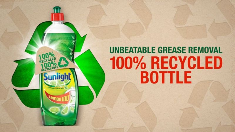 Feature image - Cleaning up with Sunlight's 100% recycled and recyclable bottles