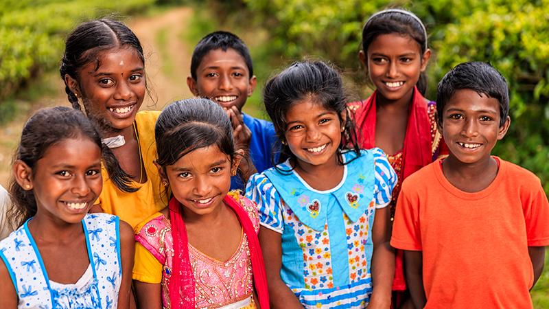 Little kids smiling - Sri Lanka