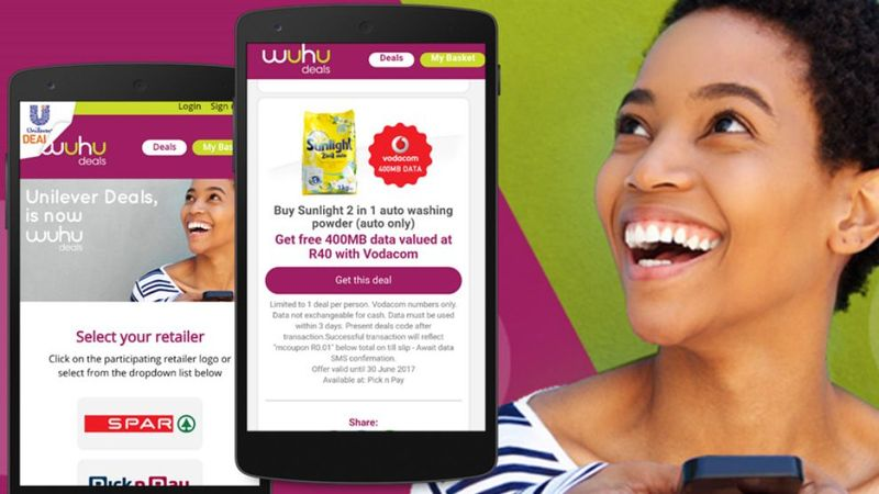 Unilever SA takes Mobile Couponing to the next level Introducing Wuhu
